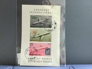 Republic D'Haiti Airport International cancelled stamps sheet  R27053