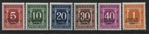 Uganda 1973 5¢ to $1 Postage Dues overprinted Uganda Liberated 1979 mint NH (JD)