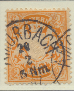 Bavaria (German State) Stamp Scott #55, Used - Free U.S. Shipping, Free World...