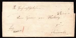 $German Stampless Cover, Stade-Neuenwalde (1876) Franko