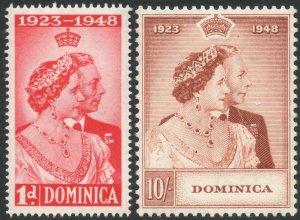 DOMINICA-1948 Royal Silver Wedding Set Sg 112-113 UNMOUNTED MINT V37522