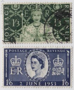 GREAT BRITAIN Used Scott # 315-316 Queen Elizabeth II (2 Stps) -6