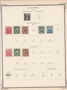 salvador stamps page ref 17180