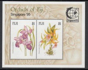 Fiji 740 Flowers Souvenir Sheet MNH VF