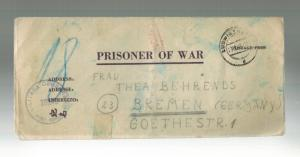 1946 Germany Ludwigsburg War Criminal Prison Camp # 74 Cover Helmuth Behrends