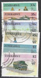 pb3393 Zimbabwe 626-31 used  cv $4.25 bin $2.00