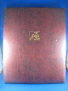 SPIRIT OF 76 - 4 PANEL ALBUM WITH 4 FIRST DAY CANCELLED PANES OF U.S. SHEETS