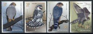 Romania Birds of Prey on Stamps 2021 MNH Falcons Falcon Raptors 4v Set
