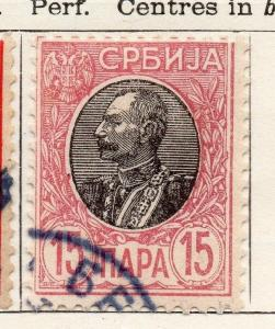 Serbia 1905 Early Issue Fine Used 15pa. 150446