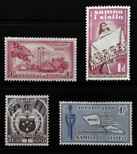 SAMOA Inscribed Fono Fou & Sisifo Sc220-222 Set Sc223 OG