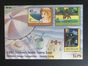 New Zealand #B157A Souvenir Sheet, Mint NH, Children's Health