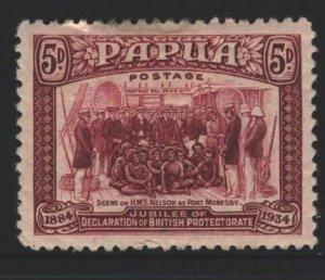Papua New Guinea Sc#113 MH - tiny tear top, pencil on reverse