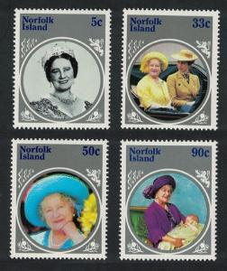 Norfolk Life and Times of Queen Elizabeth the Queen Mother 4v SG#364-367