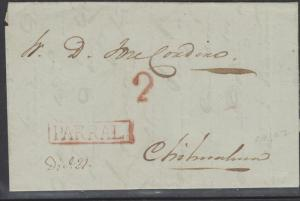 o) 1846 MEXICO, MEXICO PRESTAMP RED PARRAL, TO CHIHUAHUA RED