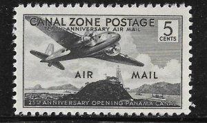 Canal Zone C15: 5c Plane over Sosa Hill, single, MNH, F-VF