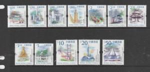 HONG KONG 1999 defs 12 vals as shown from $1.20 to $50, UM