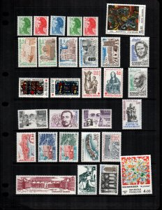 France   31 diff MNH