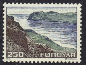 Faroe Islands  #16  1975 MNH definitives 250 ore