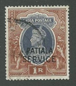 India-Patiala  Scott O74  Used