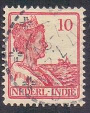 Netherlands Indies 1913 used Wilhelmina  10 ct   #