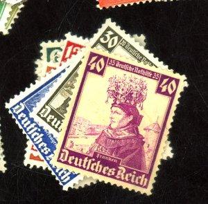 Germany #B69-78 MINT FVF OG LH Cat$35