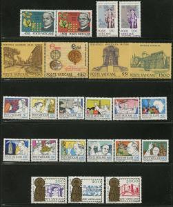 VATICAN Sc#729-751 Five Sets 1984 Year Complete Mint OG NH