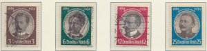 Germany Stamps Scott #432 To 435, Used - Free U.S. Shipping, Free Worldwide S...