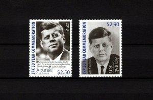 Aitutaki MNH 615-6 50 Year Memorial John F. Kennedy 2013