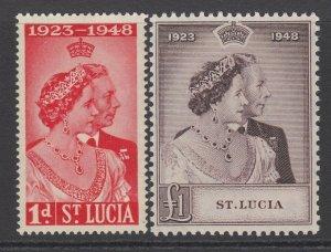 St. Lucia, Scott 129-130 (SG 144-145), MLH