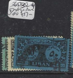 LEBANON (P1604B)  POSTAGE DUE  SG D352-4   VFU