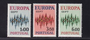 Portugal  #1141-1143  MNH  1972  Europa