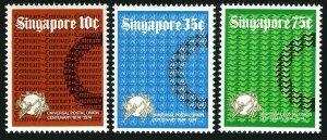 Singapore 212-214,MNH.Michel 215-217. UPU-100,1974.