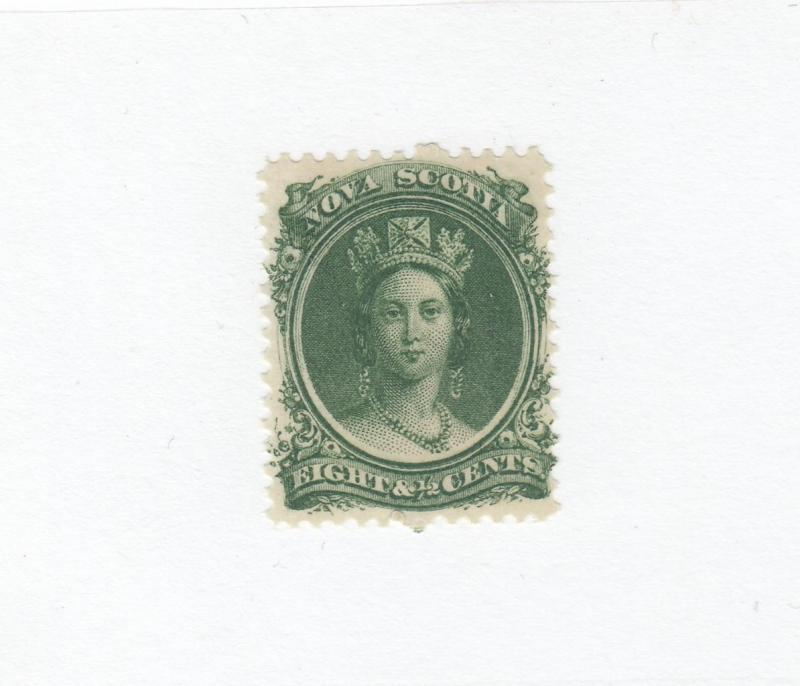 NOVA SCOTIA  # 11  FVF-MH  81/2cts  Q/VICTORIA GREEN CAT VALUE $15