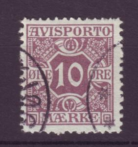 J8297 JLs stamps 1907 denmark used perf 13 #p4