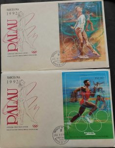 SA) 1992 PALAU, OLYMPIC GAMES, BARCELONA, SPAIN, ATHLETICS CARL LEWIS, GYM OLGA