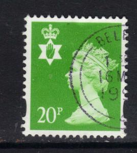 Northern Ireland GB 1993 - 2000 QE2 20p Bright Green Machin SG NI 71 ( D964 )