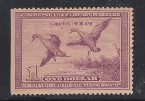 US Sc RW5 MNH. 1938 $1 Pintails Duck Stamp