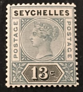 Seychelles Scott 9 Queen Victoria 13 Cent-Mint NH