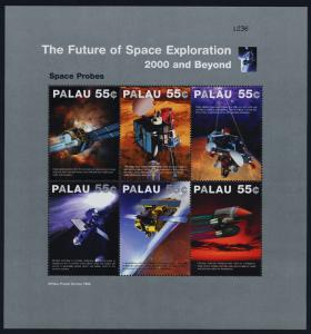 Palau 533-7 MNH Future Space Craft, Future of Space Exploration