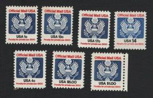 United States MINT Scott Number O127-O133  MNH  VF  #1 -  BARNEYS