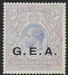 German E. AFr. 1917  5 R fvf mint hinged