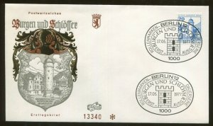 1977 Berlin Germany Castles & Palaces Wasserschloss Mespelbrunn Im Spessart FDC