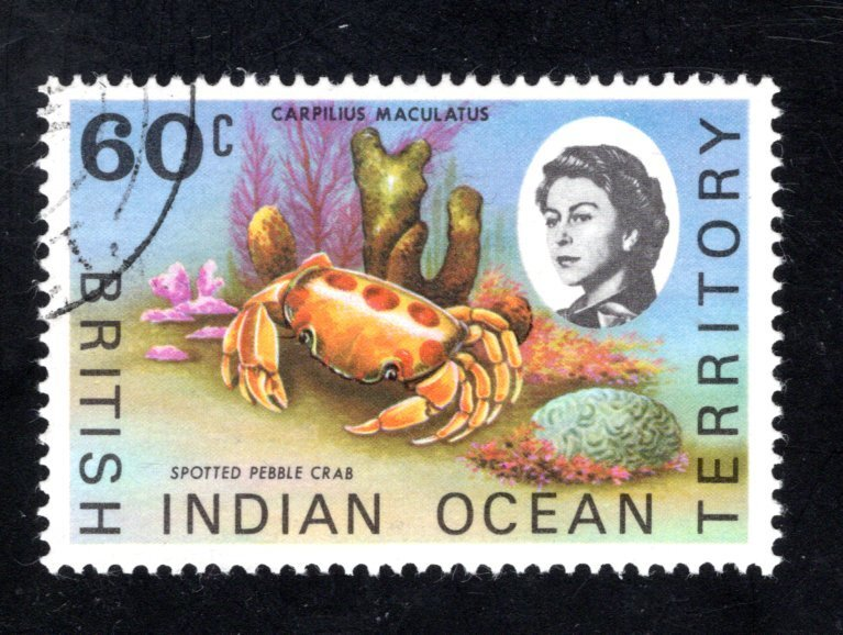 British Indian Ocean Territory, Scott 25  VF,  Used, CV $4.25 ..... 0870019