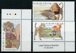 Namibia 2019 MNH Large Felines Lions Cheetahs Leopards 3v Set Animals Stamps