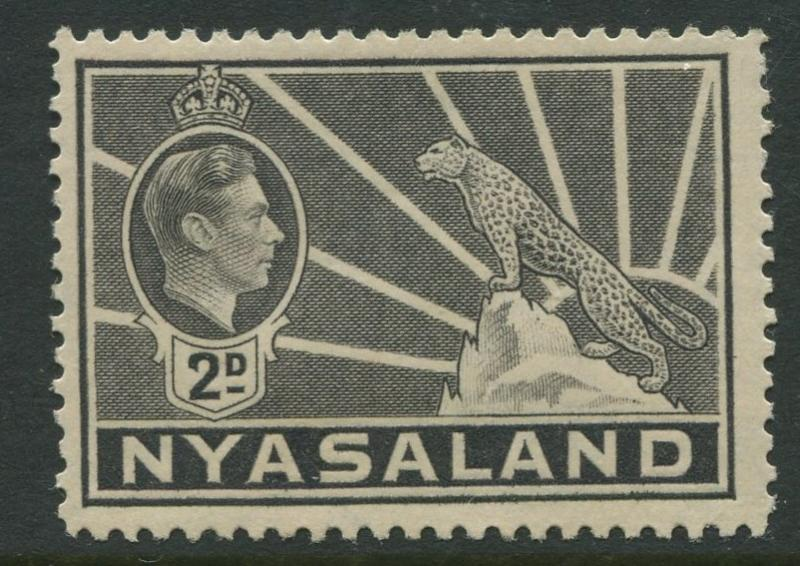 Nyasaland - Scott 57 - KGVI Definitive -1938- MVLH - Single 2d Stamp