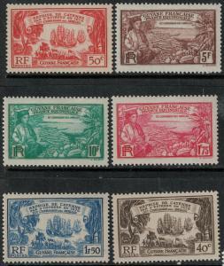 French Guiana 1935-1957 MNI 156-161 Mint/MNH SCV $59.00 Set