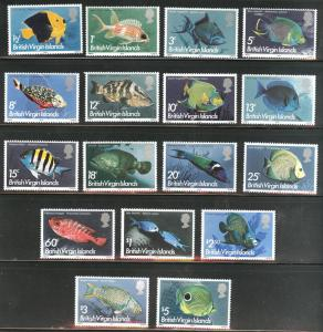Virgin Islands Scott 284-300, SG 330-346 MH* 1975 Fish set