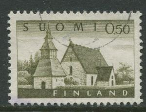 Finland - Scott 407 - Church at Lammi -1963- Used - Single 50p Stamp