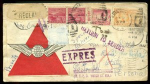 U.S. Scott 681 (2), 716, E16 On International Special Delivery Cover To Italy