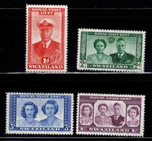 Swaziland Scott 44-47 MH* stamp set